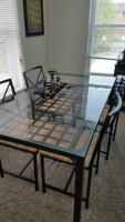 Glass 4 seat kitchen table