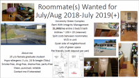 Need 1-2 roommates for 3/3