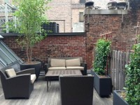 Spectacularly Renovated 19th Century Townhouse with gas fplc, Impressive 650 SF private terrace for relaxing & entertaining. NO FEE.