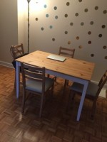 LERHAMN Table and 4 LERHAMN chairs