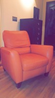 Almafi Leather Recliner, very good condition, manufactured by Natuzzi