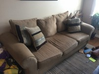 Moving Sale Must go SUPER comfortable couch and gorgeous entertainment center