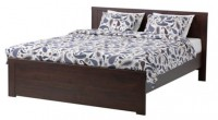 IKEA bed frame & mattress, bedding
