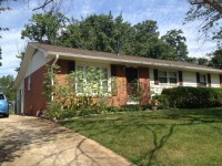 House with fenced backyard