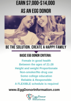 Earn up to $14,000 This Summer by becoming an Egg Donor!
