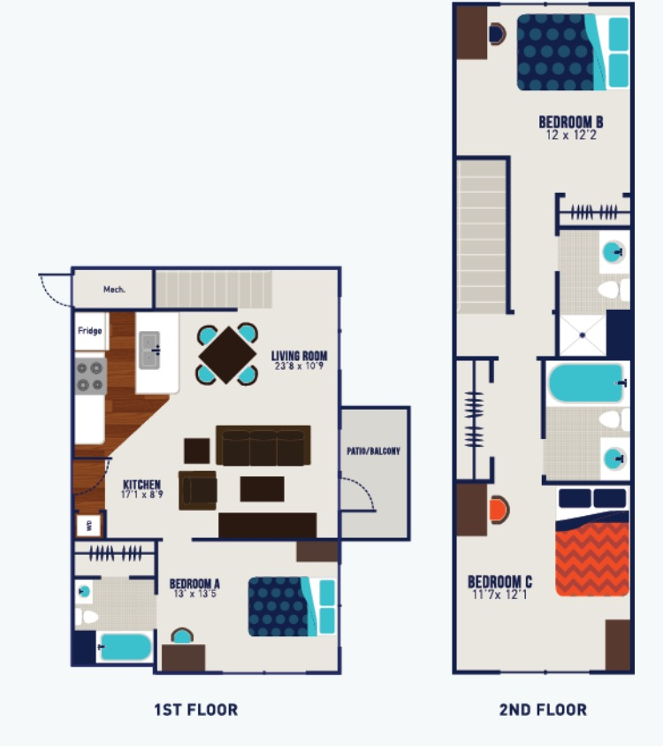 The James: 1BR sublet in 3BR