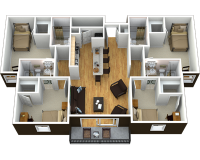 One Bedroom in a 4BR Grandmarc unit
