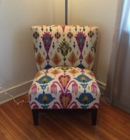 World Market Upholstered Chair w/ Wooden Legs