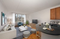 TRIBECA'S HOTTEST AREA Super Spacious 1 Bed Avail Now at Saranac. Landscaped Roof Deck, Drmn, Free Fitness, Garage. NO FEE