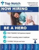 Nurses Assistant- TEMP/ FLEX JOB $16/$17 hour