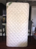 Twin mattress and bed frame