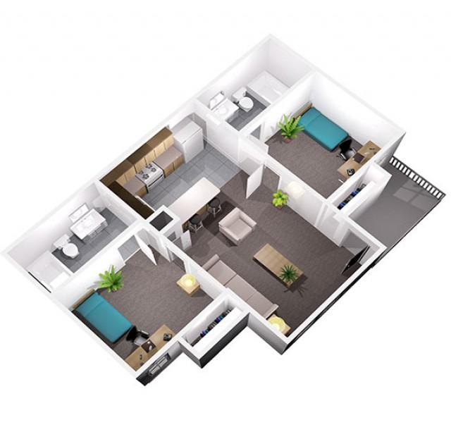 Centennial Court 2bd/2ba Apartment Lease