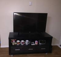 Black Wood TV Stand - Brand New Condition