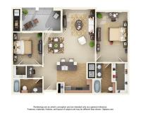 Centre at Overton Park - Master Bedroom 2X2
