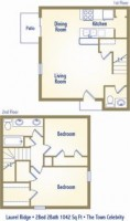 Two bedroom townhouse - 465/room/month