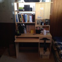 Lightly Used Futon (2 pads), Desk, Computer Chair, TV and TV Stand