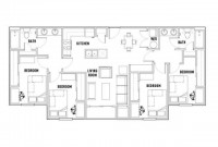 1 or 2 BR in a 4 Bed / 2 Bath Apartment for the Summer