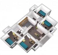 Centennial Court Apartment Bedroom Availble now