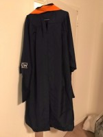 GW Engineering Regalia (Graduation Cap, Gown, and Orange Hood)