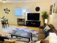 FULLY furnished 1-bedroom Apt with internet, water & parking included