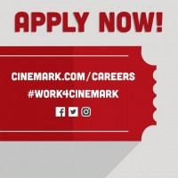 Now Hiring! Theater & Restaurant Crew Members at Cinemark!