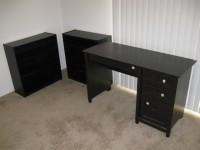 Dining set, office desk, book shelf, night stand, bed frame