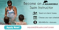Become an AQUAMOBILE Traveling Swim Instructor OR Lifeguard $26-$40/hr