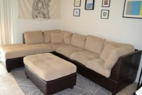 Sectional and Large Ottoman