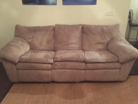 BEIGE COUCH SET (2)