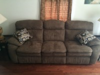 Brand new microfiber reclining couch