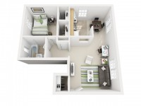 I bedroom apartment for sublease