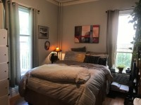 Furnished 1 bedroom sublet in a large 3-bedroom apartment in Dorchester