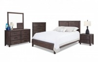 Wood Bedroom Set - includes queen mattress, bed frame, dresser/mirror and nightstand