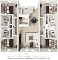 1BR 1BA Apartment w/ Roommates