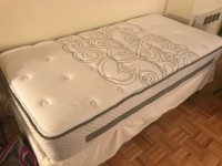 Twin Mattress, Box and Frame