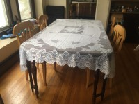 Beautiful lace tablecloth