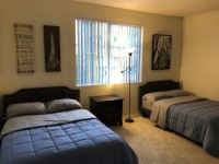 FURNISHED MASTER BEDROOM WITH PRIVATE BATH IN LUXURY APT NEAR UCLA & BEVERLY HILLS (ALL INCLUDED)