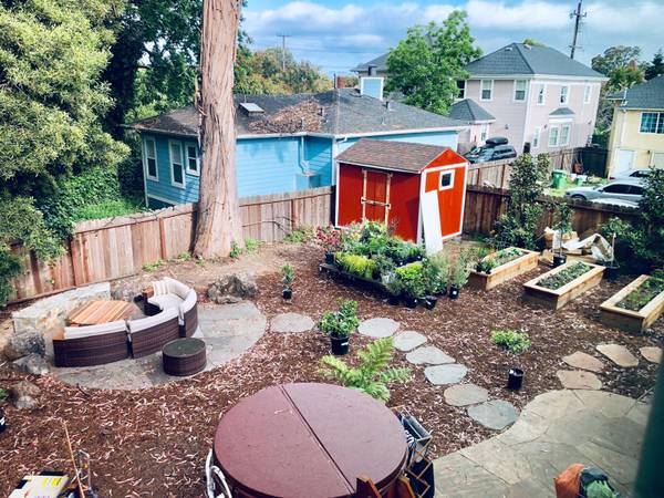 Open October: 1 bdr apt in Temescal on beautiful property