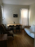 1 BR (furnished) for one-year lease on Dec. 15