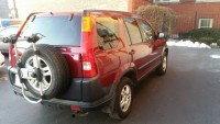 Selling Honda CR-V 160,000 mileage EX 4D - Bordeaux color with moonroof