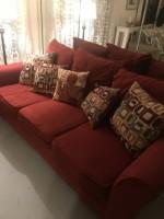 Fiesta Sofa Bob's Discount Furniture (pillows included)