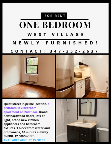 One Bedroom - Greenwich Village, NYC