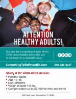 Attention Healthy Adults!