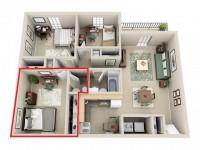 Subleasing Master Bedroom in 3BR Apartment close to UVA