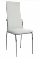 White Upholstered Dining Chairs x 6
