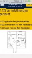 Willowtree tower 2 bedroom 1 bathroom apt rent