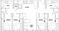 1 bedroom in 4 room apartment