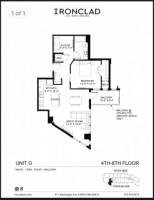 One bedroom plus den rent reduced