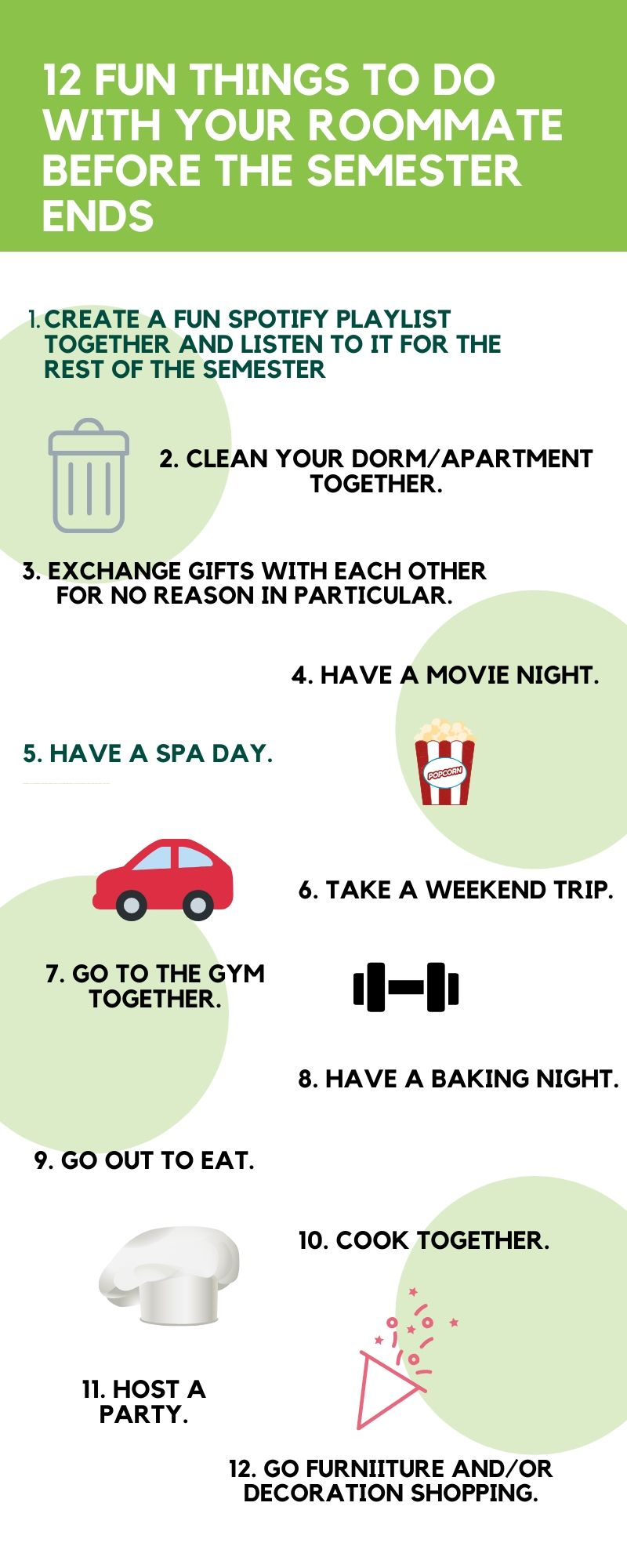 Roommate Finder: 12 Fun Things to Do With Your Roommate Before the End of the Semester